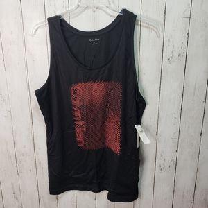 New! Calvin Klein Women's Black Cotton Tank Top